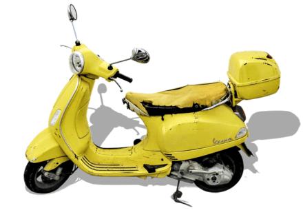 廃車寸前の原付バイク